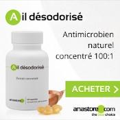 Ail désodorisé extrait concentré en capsules