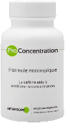 Formule nootropique ProConcentration en gélules : boîte en gros plan.