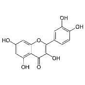 Représentation de la molécule de quercétine